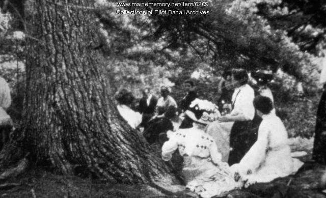 Green Acre, class under the pines, ca. 1900