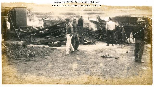 Building demolition, Lubec, ca. 1960
