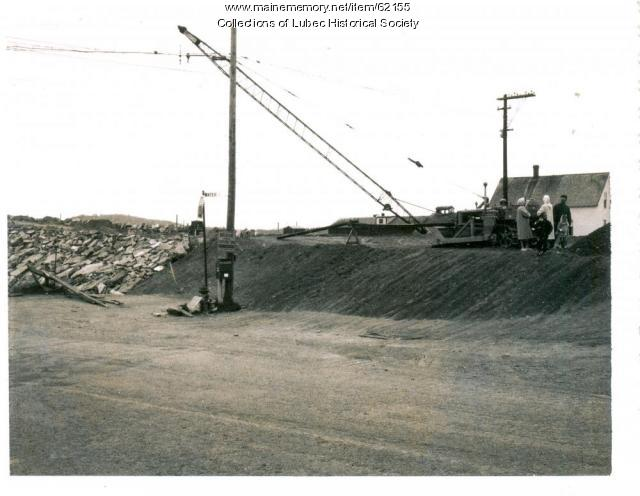 Preliminary construction for Lubec Campobello bridge, Lubec, 1961