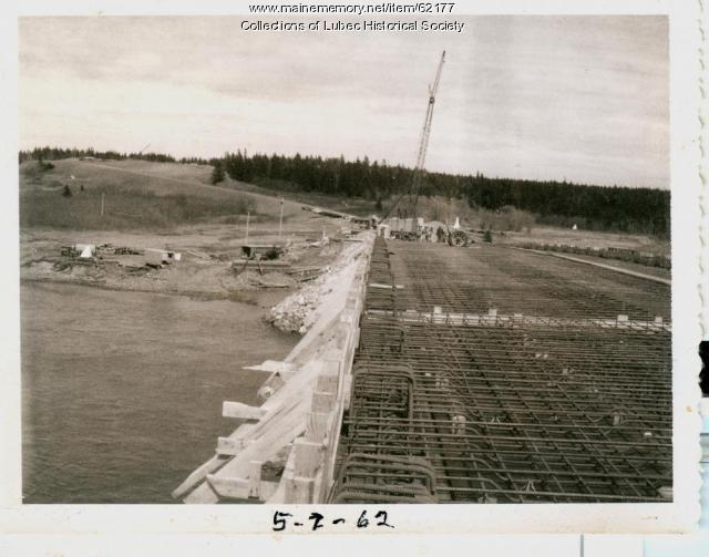 Roadwork on international bridge, Campobello Island, 1962