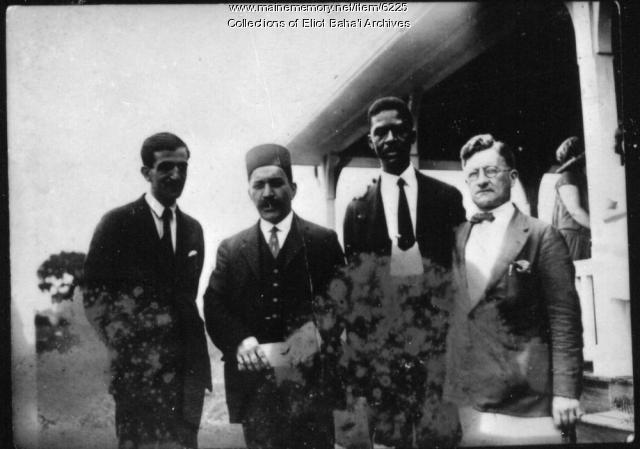 Renowned Baha'i men at Green Acre, Eliot, ca. 1920