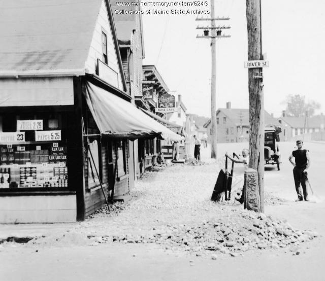 Sidewalk work, Biddeford, ca. 1934