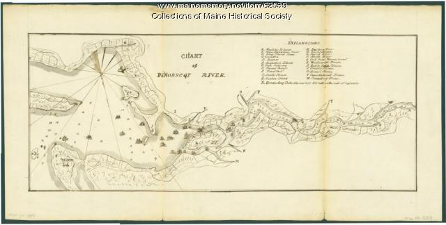 Chart of the Penobscot River, ca. 1779