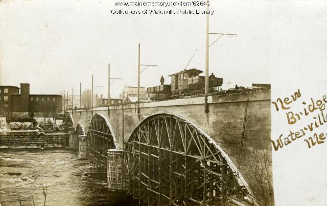 Bridge construction, Waterville, ca. 1911