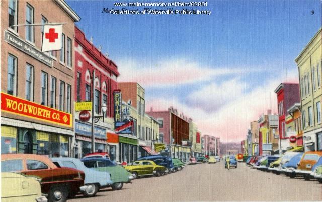 Main Street, Waterville, ca. 1940