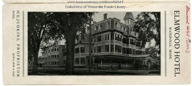 Brochure for the Elmwood Hotel, Waterville, ca. 1900