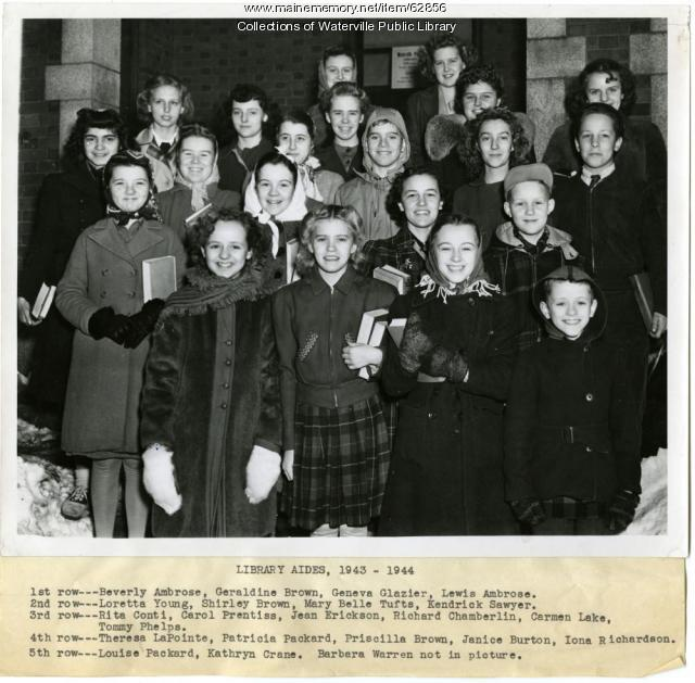 Library Aides, Waterville Public Library, ca. 1944