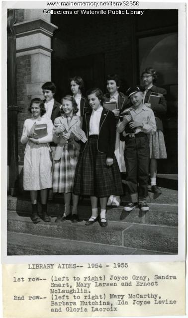 Waterville Public Library volunteers, ca. 1955