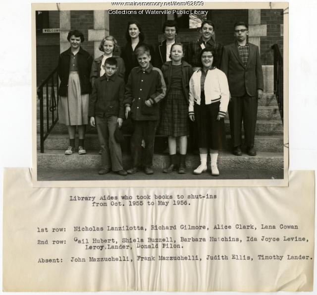 Waterville Public Library volunteers, ca. 1956