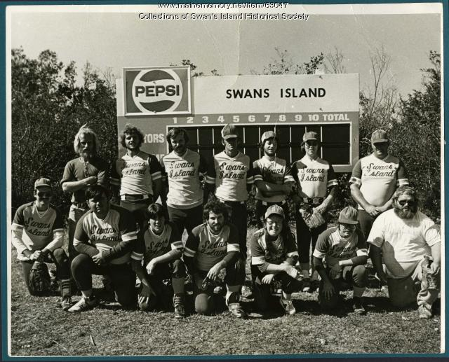 Swan's Island softball team, ca. 1978
