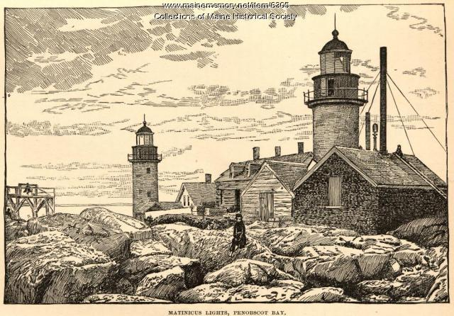Matinicus Rock lights, Penobscot Bay, 1891