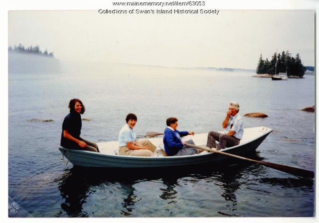 A summer boat ride, Swan's Island, ca. 1987
