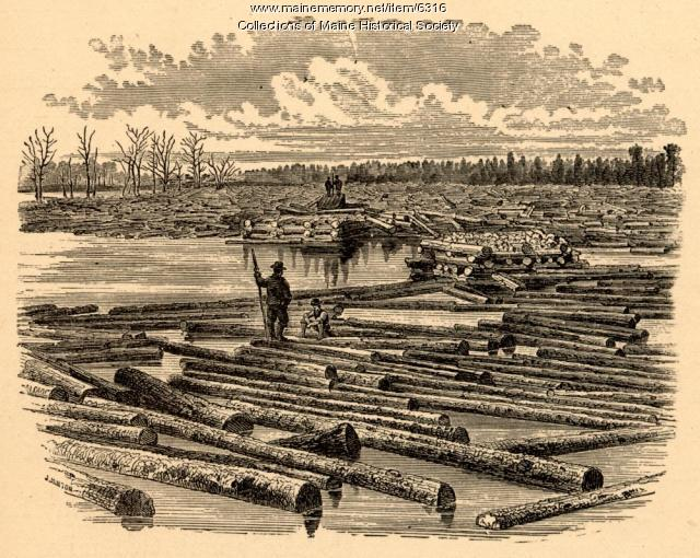 Log boom, 1879