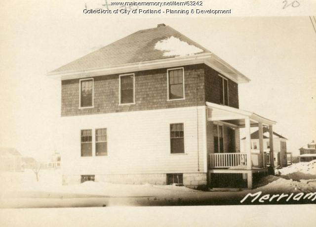 10-12 Merriam Street, Portland, 1924