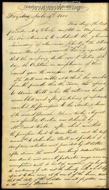Portland Federal Volunteers report, 1800
