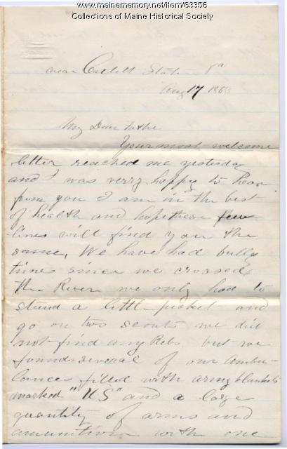 Pvt. John Sheahan from Catlett Station, VA, 1863