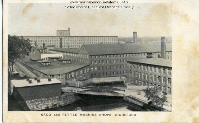 Saco-Pettee machine shop, Biddeford, ca. 1900