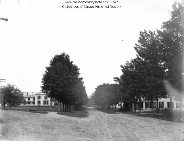Lower Main Street, Strong, ca. 1909