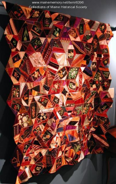 Crazy quilt, Camden, 1886