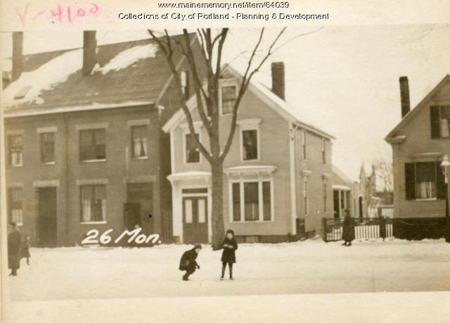 26 Monument Street, Portland, 1924