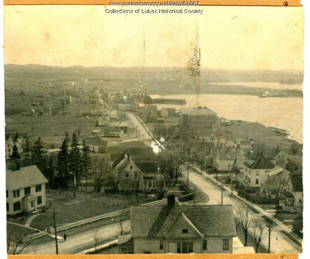 Main Street and Route 189, Lubec, ca. 1950