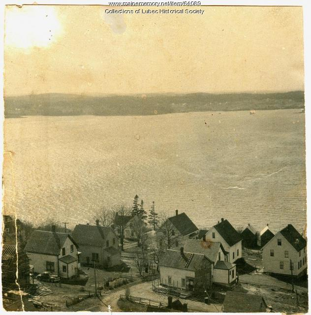 "Residences including ""sardine houses,"" Lubec, ca. 1950"