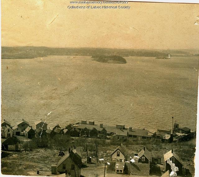 Sardine Factory B and Johnson Bay, Lubec, ca. 1950