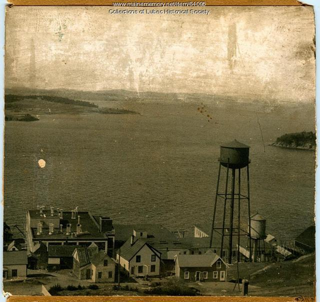 Overview of American Can Company, Lubec, ca. 1950