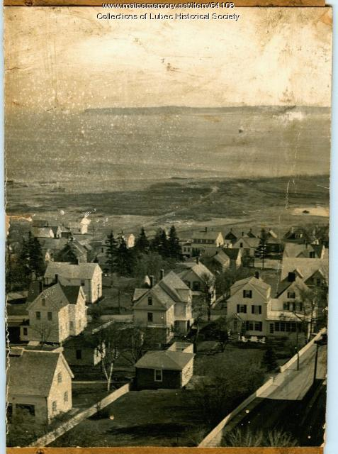 Residences, Mowry Beach, and Channel Light, Lubec, ca. 1950