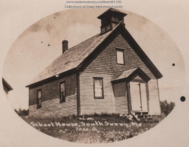School House, South Surry, 1900
