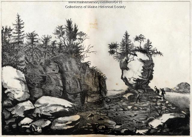 Pulpit Rock near Lewis Cove, Perry, 1836