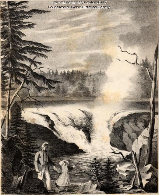 Grand falls of the river St. John, 1836