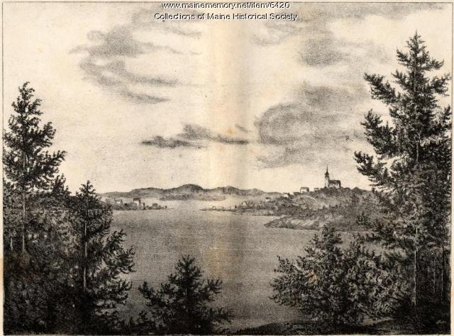 Lubec, Campobello from Eastport, 1837