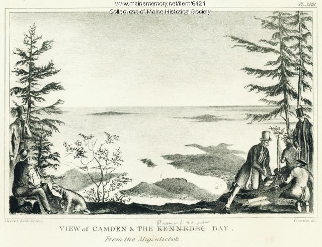 View of Camden & Penobscot Bay, 1836