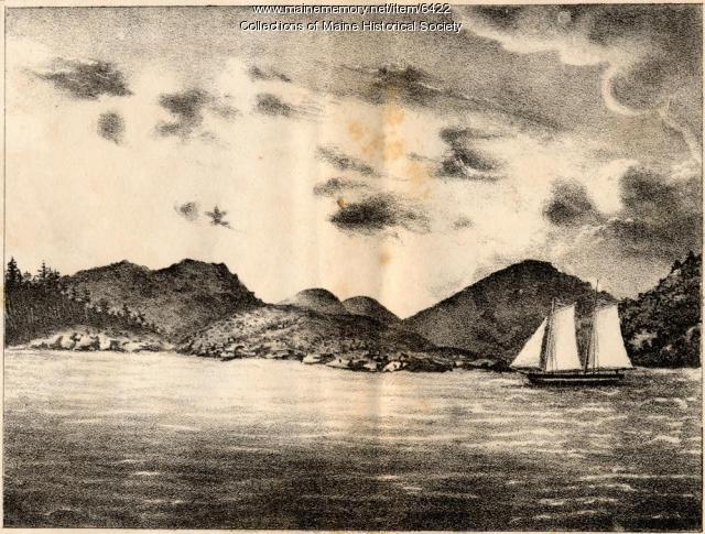 Granite mountains, Mount Desert, 1837