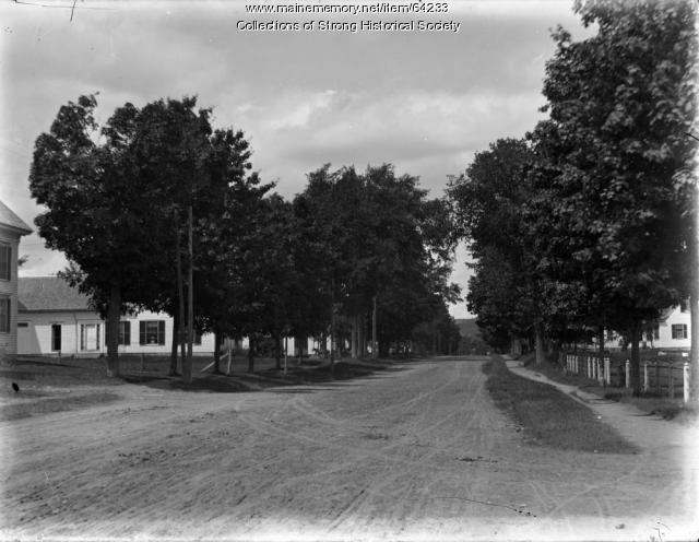 Upper Main Street, Strong, ca. 1909