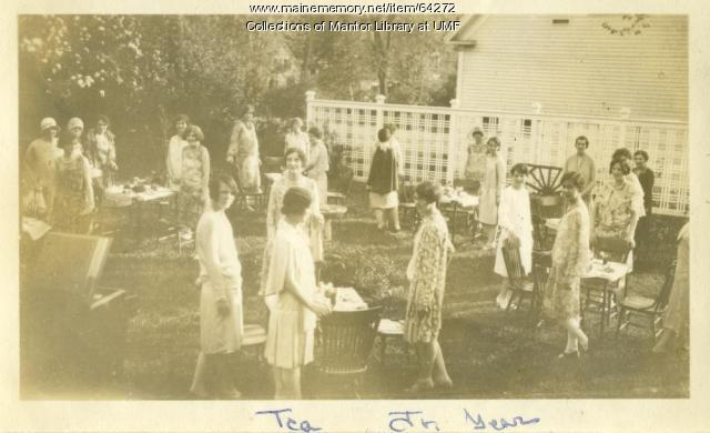 Spring Tea, Farmington State Normal School, 1930