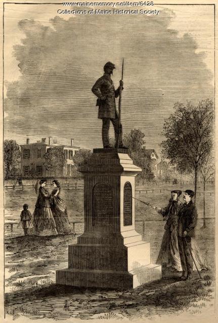Soldiers' monument, Lewiston, 1868