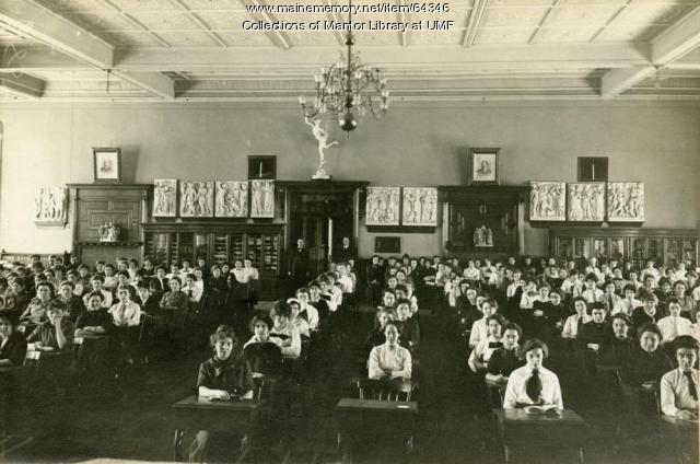Assembly Room, Farmington State Normal School, 1914