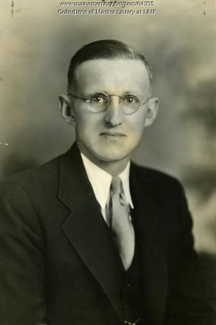 Errol L. Dearborn, Farmington Normal School, ca. 1935