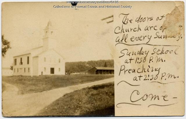 First Parish Congregational Church, Pownal, 1907