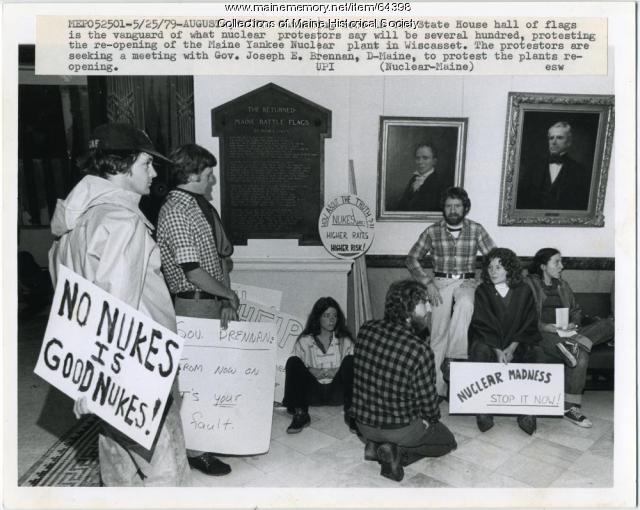Nuclear protestors, Augusta, 1979
