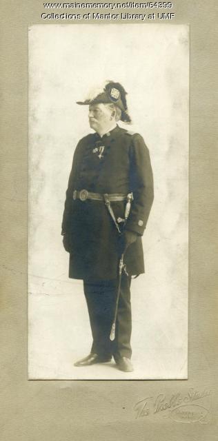 George Purington, Grand Commander of Knights Templars of Maine, ca. 1890