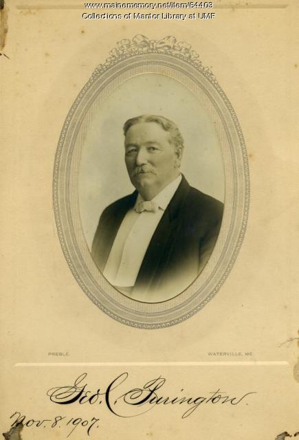 George C. Purington, Farmington State Normal School, 1907