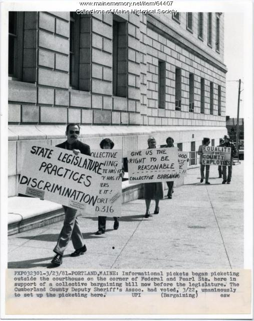 Sheriff's Association pickets, Portland, 1981