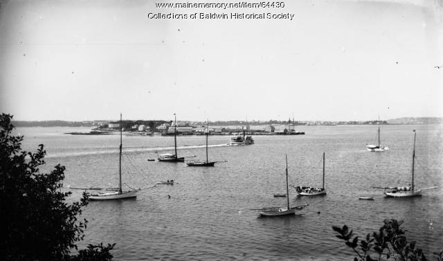House Island from Peaks Island, ca. 1890