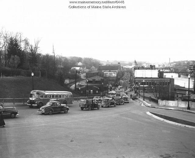 Water Street, Augusta, ca. 1940