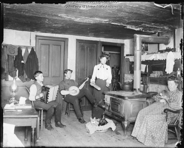 Music Around the Wood Stove, Parsonsfield, ca. 1899