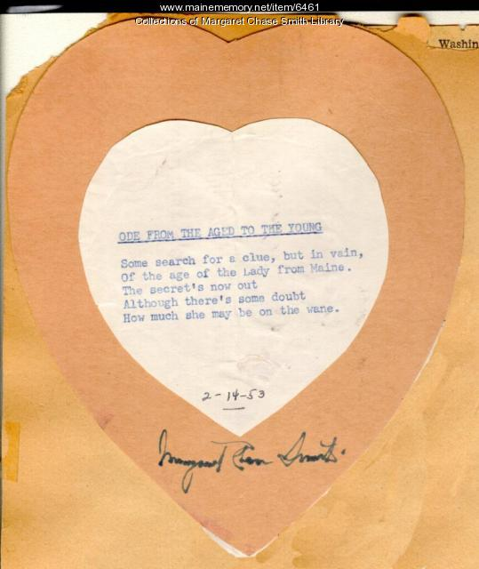Valentine from Margaret Chase Smith
