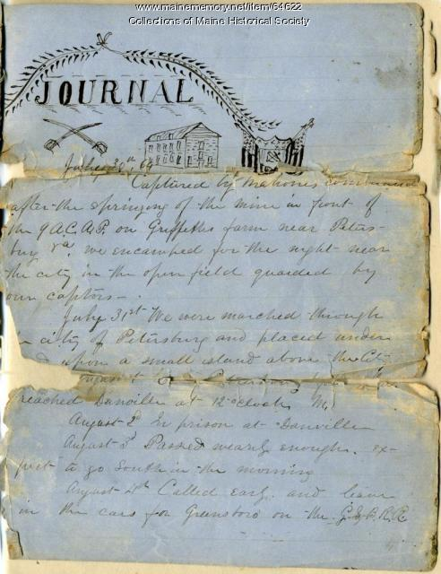 John P. Sheahan POW journal, 1864